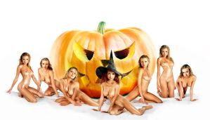 halloween nude treat trick witches 7 by FueledbypartII