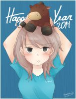 Happy New Year 2014 by Nearmoki-2b
