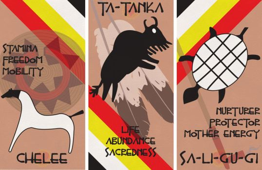 Native American Banners by WaveLullaby