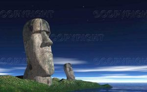 Moai of Easter Island by syths-cortex