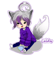 Gift: Chibi Aki by cuteredcherry