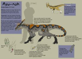 Azu-nah species sheet by felineflames