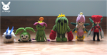 Felted Palmon Evolutions by xxNostalgic