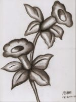 Flowers-charcoal practice2 by HoshiBlue21