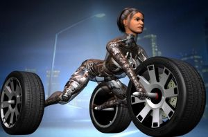 Human-Machine Hybrid Three-wheel Buggy by Zerozero91