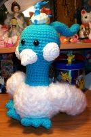Altaria Crochet Plush by First-Mate-Kate