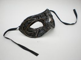 techno mascarade mask. by richardsymonsart