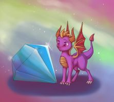 Tiny Spyro or big gem? by MantaTheMisukitty