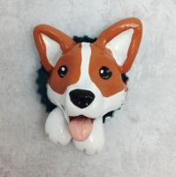 Corgi Pop-Out Magnet by LeiliaClay