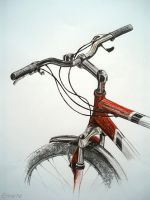 Drawing - Bicycle by Ennete