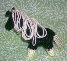 Black Crocheted Horse wsocks by Eliea