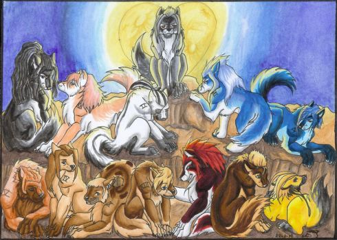 Organization XIII Wolves by The-Wolf-Within