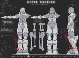 Sepia Soldier_Orthographs by PierreRogers