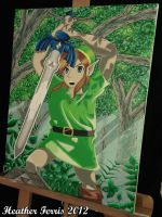 Link and the Master Sword Acrylic Painting by Qtsy