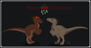 Christmas Raptors by NathalieNova