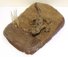 Display for a Schleich young crocodile by SarienSpiderDroid