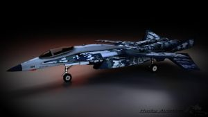 X-02 wyvern Winter Camo USAF by KevHusky