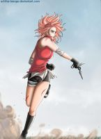 .:Sakura - Fighting:. by Uchiha-Texugo