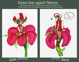 Draw this again! meme: Fairy boy by Sonski96