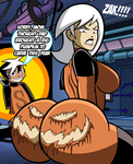 Drew Saturday: Butt Carving for Halloween by grimphantom