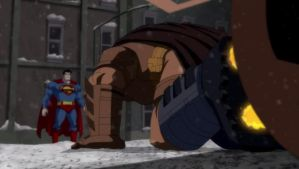 Batman About To Sneak Attack Superman by TwoScoopsXD
