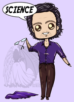 Chibi Bruce says SCIENCE by kuroitenshi13