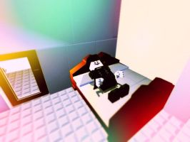 Anonymous on the bed by PutinPot