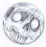 Skull badge tattoo sketch by vikingtattoo