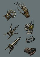 Faded Haven Fist Weapons by Harry-the-Fox