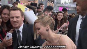 Funny Michael Fassbender and Jennifer Lawrence GIF by nickelbackloverxoxox