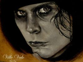 Ville Valo : under painting by UrsulaDecay