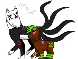 Felix and Oogie by crisisangelwolf