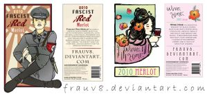 Wine Bottle Labels by FrauV8