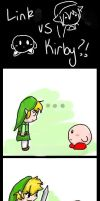 Link vs. Kirby??? by brittninja