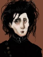 Edward Scissorhands WIP by Picklemind