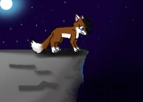 Jump the cliff by BlackWolfXP