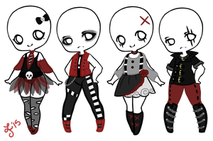 Punk/Goth/Emo F2U Outfits! by Smelly-Mouse