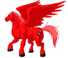 Red Pegasus by TerryRed
