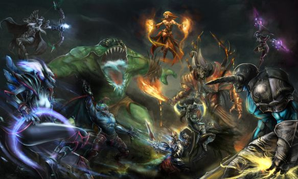 Dota 2 Art Tournament. by JiroJh
