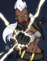 Lightning Punch Storm by Blackmoonrose13