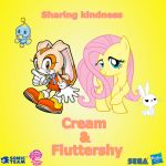 Cream and Fluttershy by Nightfire3024