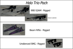 Halo Trio Pack - SMG, Beam Rifle and S2AM - Rigged by ProgammerNetwork