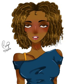 Curly Girl Finished by DatAnimeGirl93