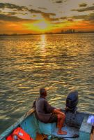 Sunrise of Chew Jetty by fighteden