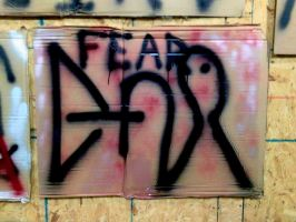 Spray Paint Painting Fear by Karenemc1