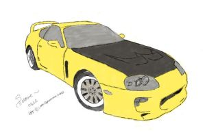 Toyota Supra 1995 (color) by Shirowe