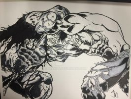 Solomon Grundy vs Hulk Ink by Drakelb