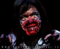 ZOMBIE Make up #3 by jessthecase88