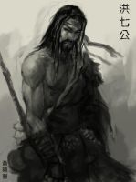 Qigong sketch by XiaMan