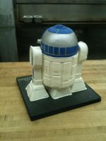 3D R2-D2 Cake back view by Spudnuts